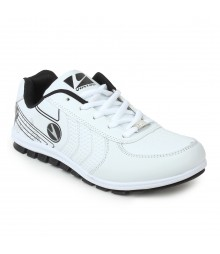 Vostro White Black Sports Shoes Rocker for Men - VSS0060